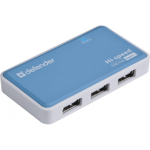 HUB DEFENDER QUADRO POWER USB2.0, 4 порта (1/100)