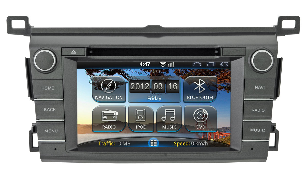 INCAR AHR-2287 Toyota RAV4 13+  Android   2din BT+TV+навиг