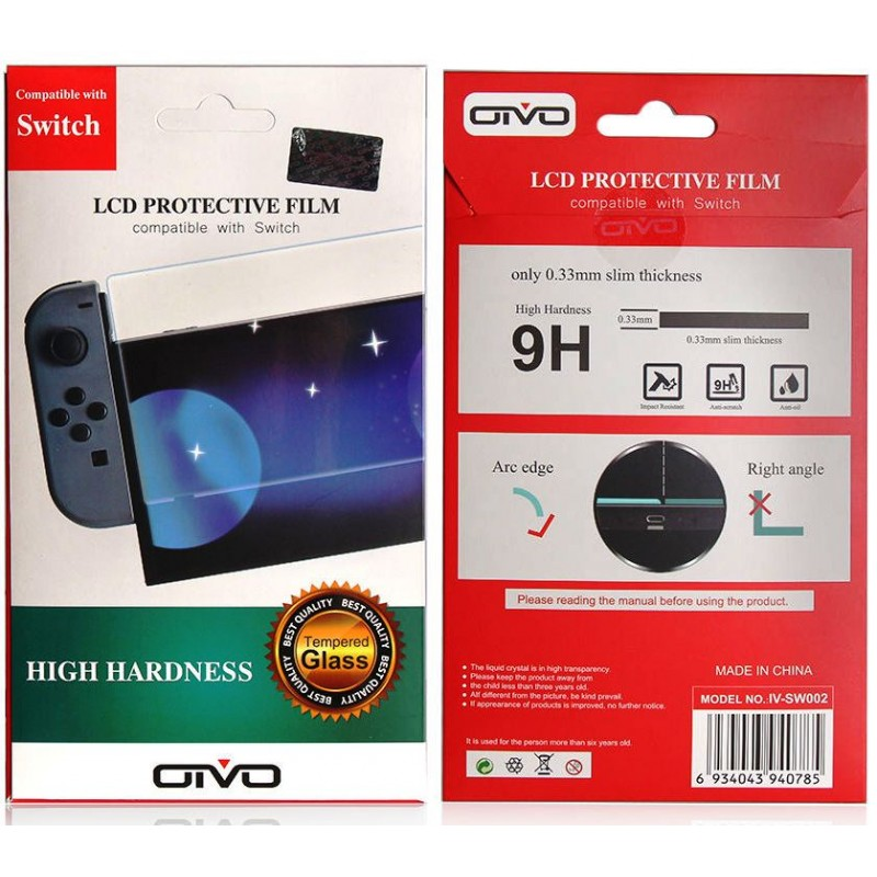 Защита экрана Nintendo Switch High Hardness Tempered Glass Protector IV-SW002 Oivo
